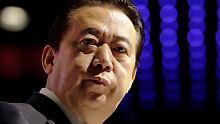 """""""Bestechungsgelder angenommen"""": China wirft Interpol-Chef Korruption vor"""