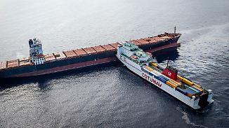 Nach Kollision zweier Frachter: 600 Tonnen Treibstoff fließen vor Korsika ins Meer