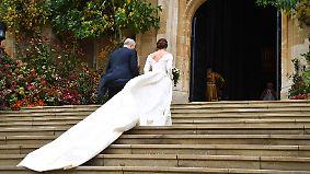 Royale Hochzeit von Eugenie: Strahlende Prinzessin trotzt dem Sturm von Windsor