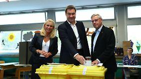 Tag der Entscheidung in Bayern: Söder macht sein Kreuz und geht spazieren
