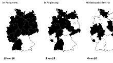 Deutschland in Polit-Farben: Welche Partei wo mitmischt