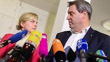 Söder bewertet Gespräche positiv: CSU lotet mögliche Koalitionen aus