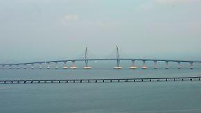 400.000 Tonnen Stahl, 55 Kilometer: China eröffnet neue Brücke der Superlative