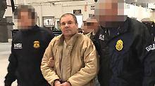 """Joaquín Guzmán, genannt """"El Chapo"""", befindet sich seit Januar in US-Gewahrsam."""