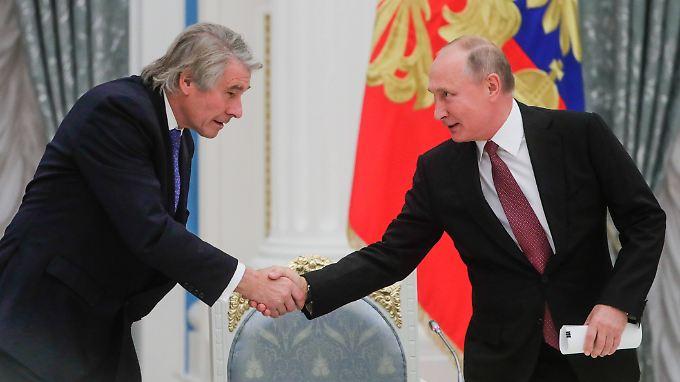 Russlands Präsident Putin traf auch den Vorsitzenden des Ost-Ausschusses der deutschen Wirtschaft, Büchele.