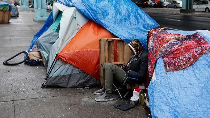 In San Franciscos Straßen sind Obdachlose sehr präsent.