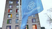 Der Industriekonzern Thyssenkrupp rechnet wegen Risiken aus einem Kartellverfahren im Geschäftsjahr 2017/2018 kaum noch mit Gewinn.