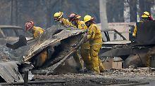 Brandkatastrophe in Kalifornien: Helfer entdecken weitere Feuertote