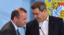 Söder in der Favoritenrolle: Weber kandidiert nicht für CSU-Chefposten