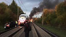 Feuer an Bord eines ICE: Bahn fährt wieder bei Montabaur