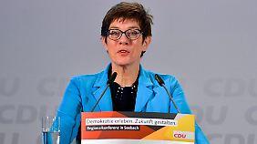 Kramp-Karrenbauer gilt als Favoritin auf den CDU-Vorsitz.