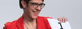 Bei Unions-Anhängern vorne: AKK baut Vorsprung vor Mitbewerbern aus