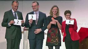 Rechtsruck durch CDU-Kandidaten?: Kramp-Karrenbauer baut Vorsprung aus