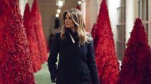 Weihnachtliches Weißes Haus: Melania Trump erntet Spott für Deko