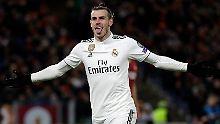 Gareth Bale trifft für Real Madrid.