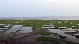 Land durch Überschwemmungen halbiert: Co2-neutrales Inselvolk verliert Zuhause an Klimawandel
