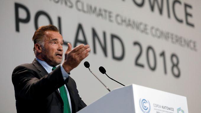 """""""Haben meschuggenen Präsidenten"""": Schwarzenegger tritt auf Weltklimagipfel in Polen auf"""