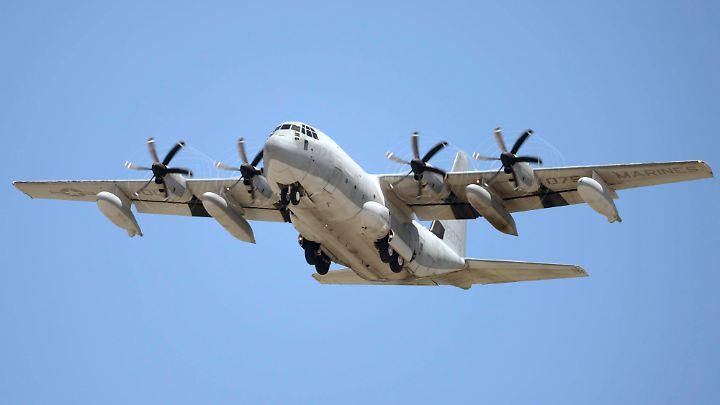 """Zusammenstoß in der Luft: Ein """"Hercules""""-Tanker der US-Marines (Archivbild)."""