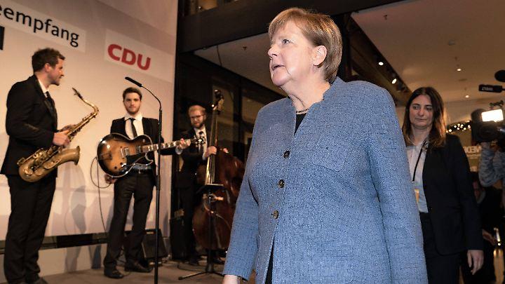 Angela Merkel zeigte sich beim Presseempfang am Donnerstagabend - wie häufig in der letzten Zeit - sehr entspannt.