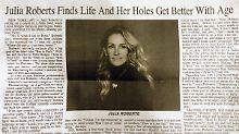 """Die """"Löcher"""" der Julia Roberts: Zeitung unterläuft peinlicher Tippfehler"""