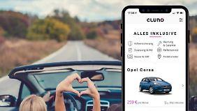 Beim Münchner Abo-Dienst Cluno können Kunden zwischen 50 Modellen wählen - zum monatlichen Festpreis und mit einer dreimonatigen Kündigungsfrist.
