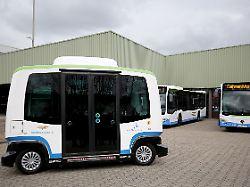 Selbstfahrender Linienverkehr: Bald rollen autonome Busse durch Monheim