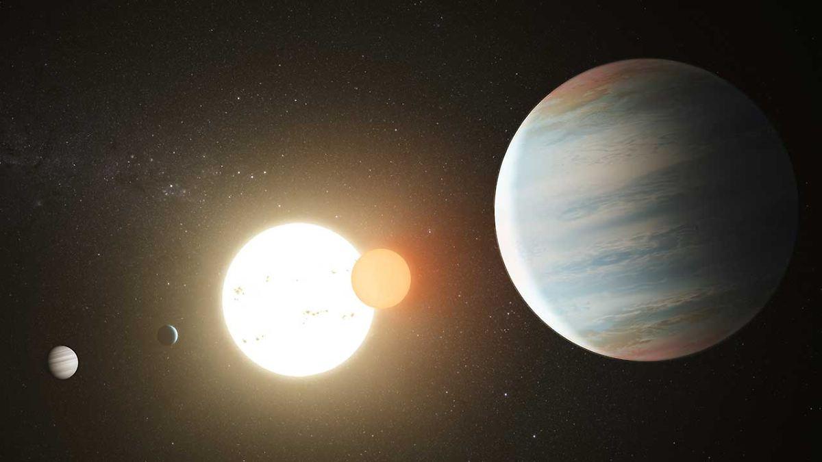 Erster Doppelstern mit drei Planeten entdeckt