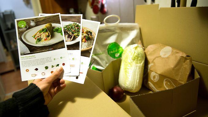 Hellofresh liefert Kochboxen nach Hause, in denen die Kunden alle Zutaten für ein Menü finden.