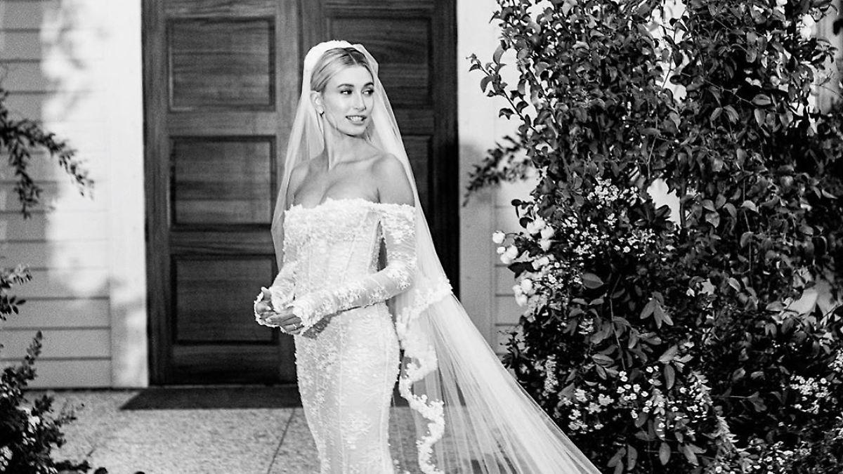 Hailey Bieber zeigt ihr Brautkleid