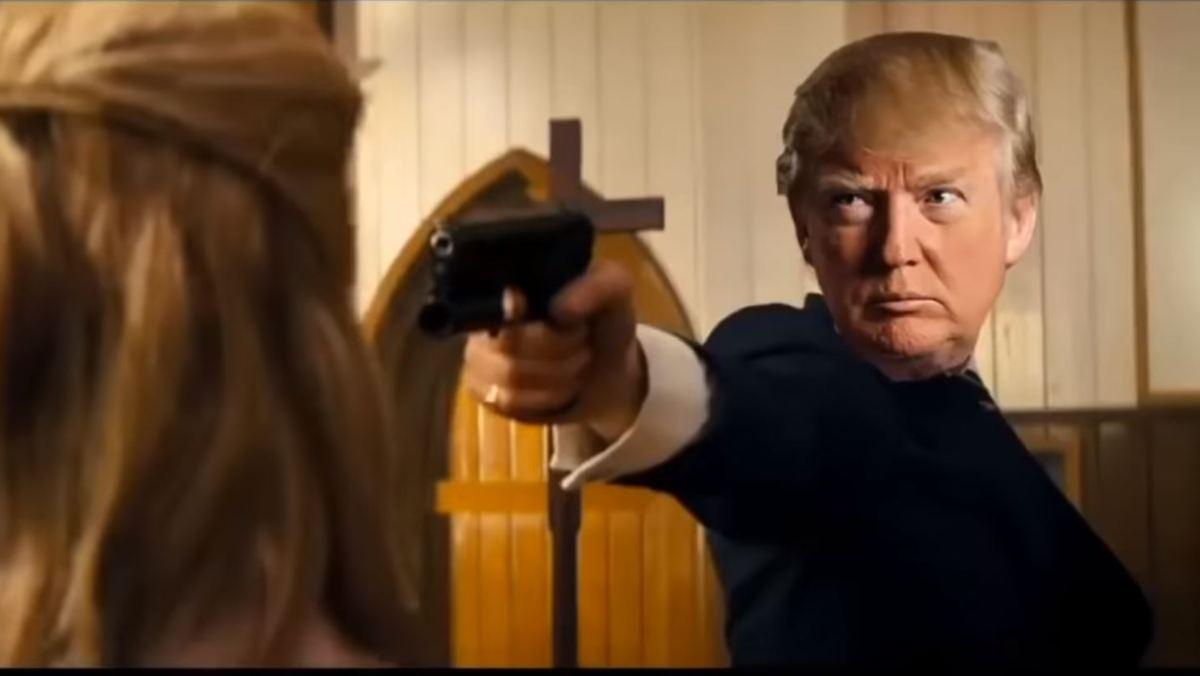 Trump-Charakter erschießt Gegner in Fake-Video