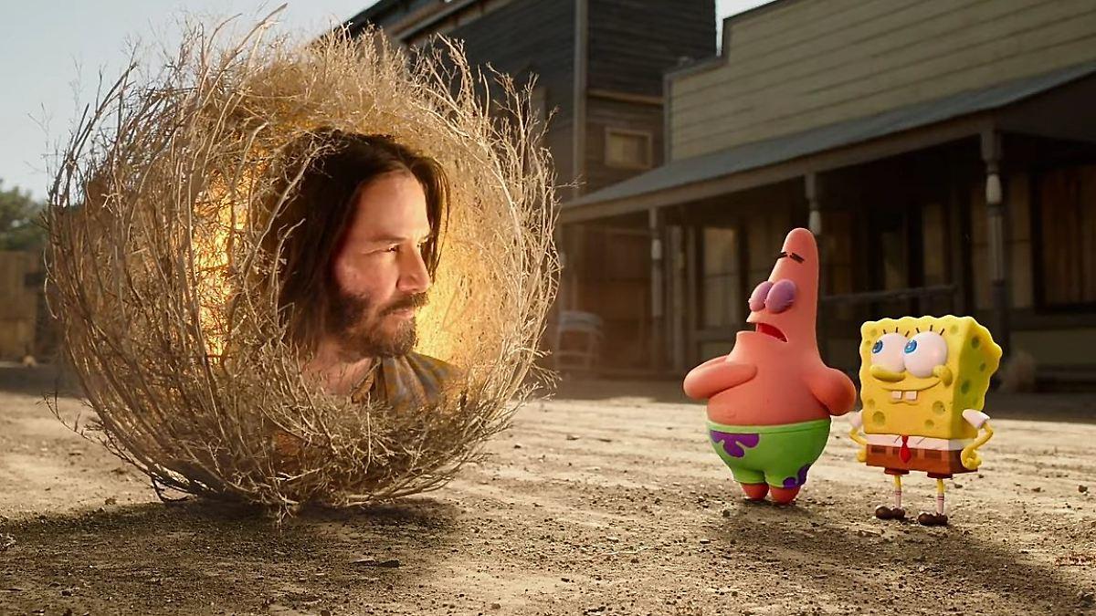 Für Spongebob wird Keanu Reeves zu Gott