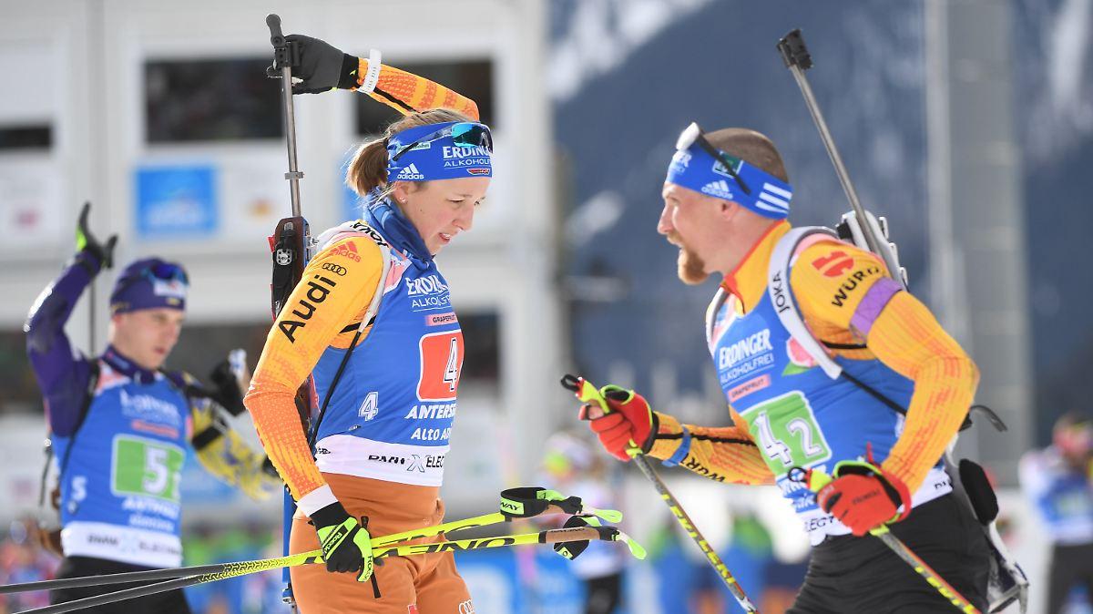 Deutsches Biathlon-Duo glänzt Silbern