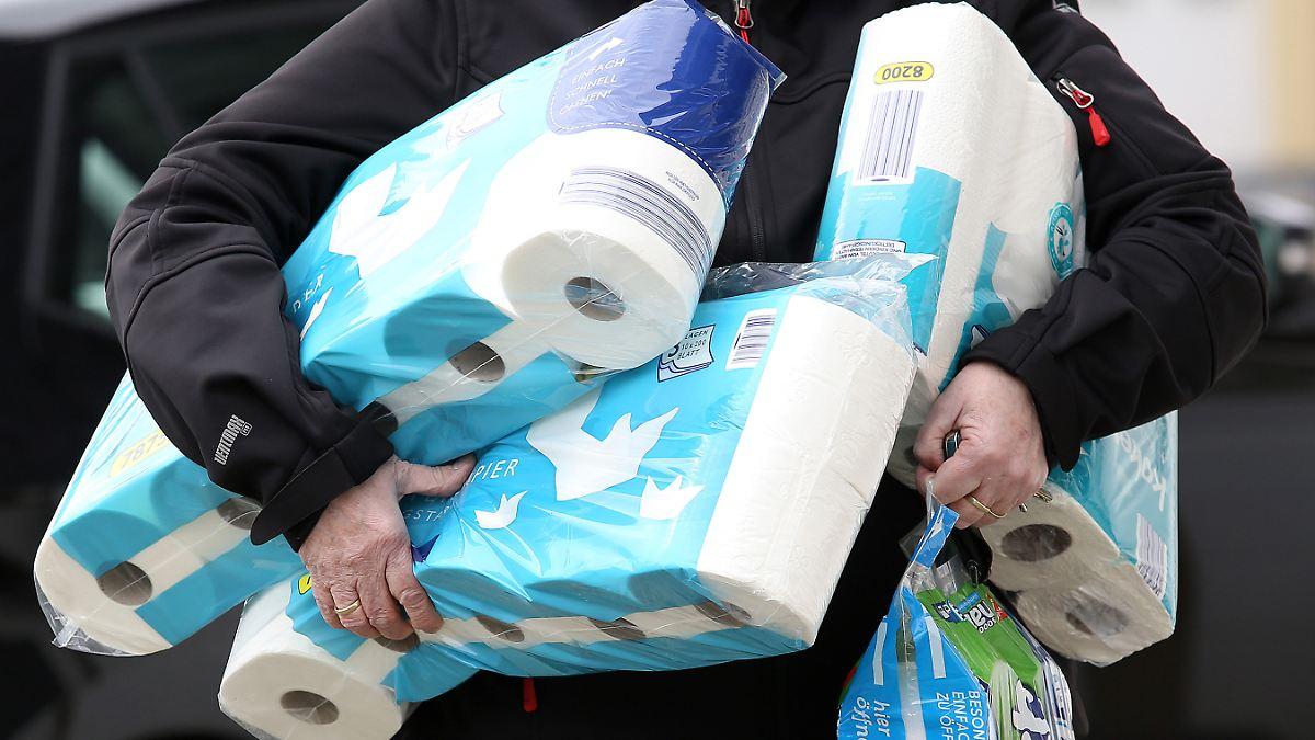 Absatz von Toilettenpapier bricht ein
