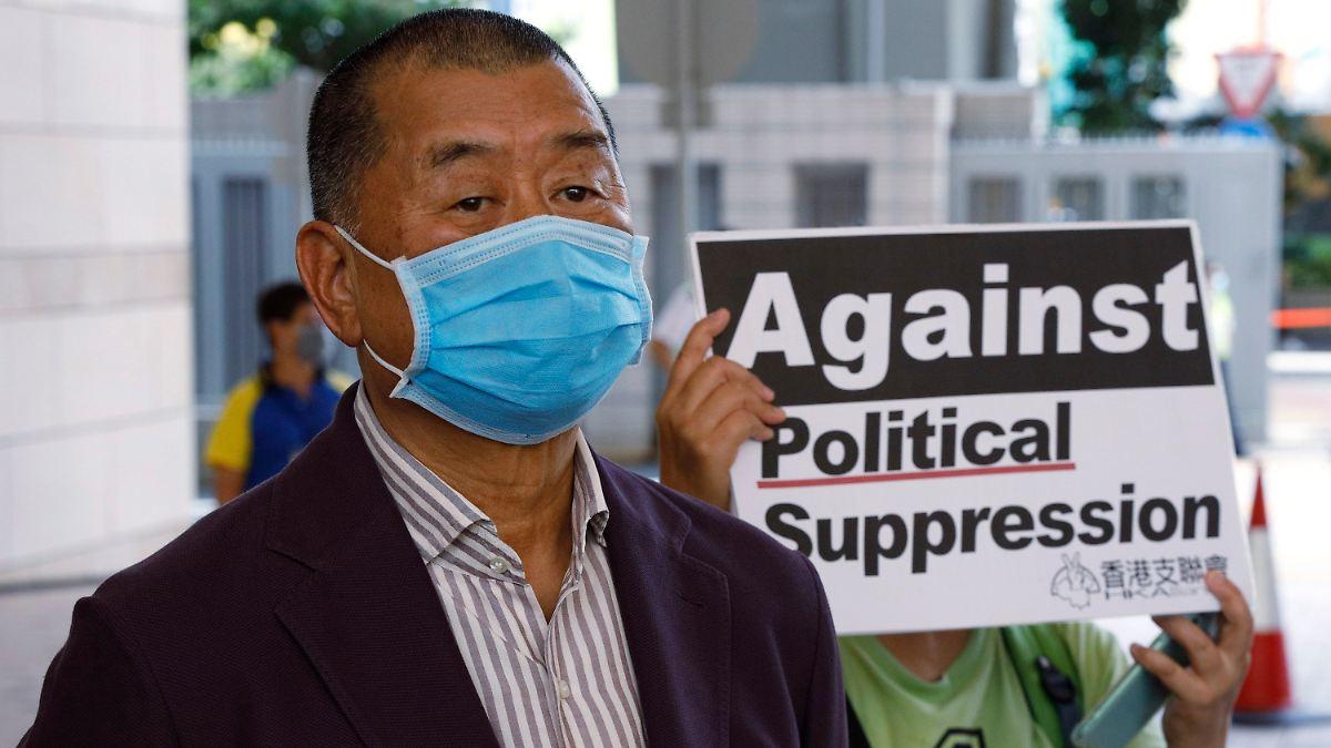 Unternehmer ahnte Polizeieinsatz:Hongkongs Medienmogul Lai festgenommen - n