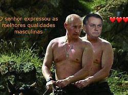 """dghg - Brasilien verspottet Präsidenten: Putin lobt Bolsonaros """"männliche Qualitäten"""""""
