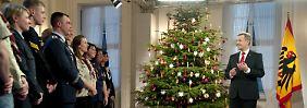 Bundespräsident Wulff hatte für die Aufzeichnung der Ansprache 200 ehrenamtlich engagierte Bürger ins Schloss Bellevue eingeladen.