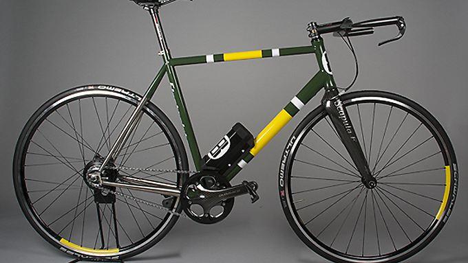 Den Elektroantrieb erkennen nur Fachleute: Mit Kohlefaser und Titan wurden die E-Bikes auf 10 bis 12 Kilo abgespeckt.