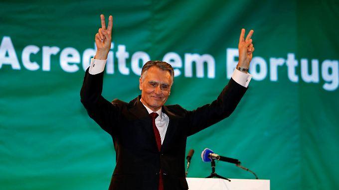 "Portugals Präsident Aníbal Cavaco Silva im Wahlkampffieber: ""Vertraue Portugal"""