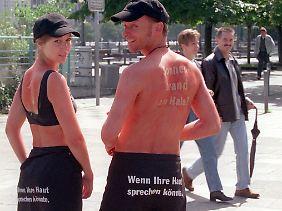 Kampagne gegen Sonnenbrand.