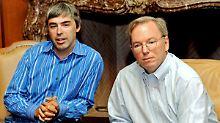 Larry Page (links) ist wieder die Nummer eins. Eric Schmidt übernimmt den Verwaltungsrat.