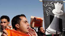 In der jordanischen Hauptstadt Amman wird gegen die Regierung demonstriert.