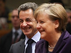 Sarkozy und Merkel beim EU-Gipfel in Brüssel.