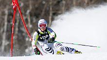 Titelverteidigerin Kathrin Hölzl ist rechtzeitig zum WM-Riesenslalom wieder in Schuss.