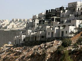 Die Palästinenser wollen Friedensgespräche erst wieder aufnehmen, wenn Israel den Siedlungsbau stoppt.