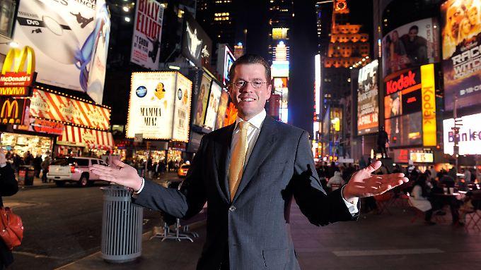 Einst glänzte Guttenberg auf dem Times Square - bald denkt er in Washington.