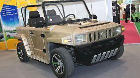 Für 10.000 Euro gibt es auch den chinesischen Greentec T3. Ähnlichkeiten zum Hummer sind natürlich rein zufällig.