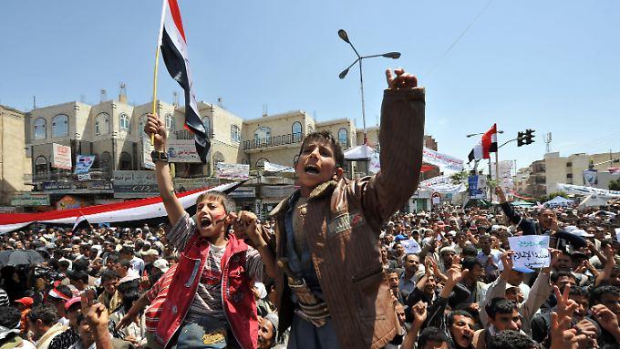 Proteste in der jemenitischen Hauptstadt Sanaa.