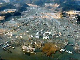In Minamisanriku wird die Hälfte der Einwohner vermisst.