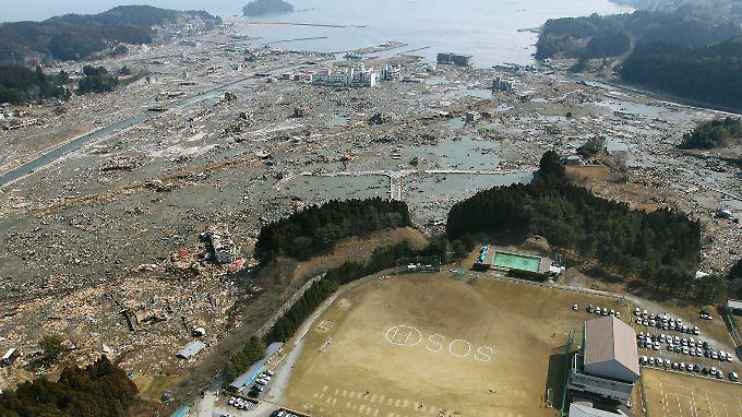 Auch die Stadt Kamiishi ist von der Flutwelle verwüstet worden.