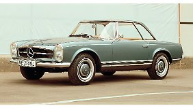 Grazil und doch sportlich: Mit dem 230 SL, auch Pagode genannt, erreichte Mercedes einen ungeahnt formschönen Kompromiss.